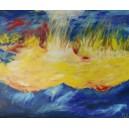 """Kunstdruck """"Fire on the beach"""" limitiert u. handsigniert v. Regine Lemke-Kalweit"""